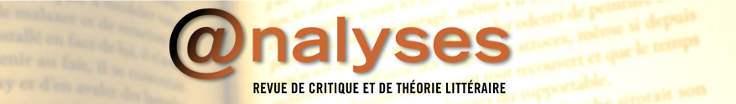 @nalyses : revue de critique et de théorie littéraire